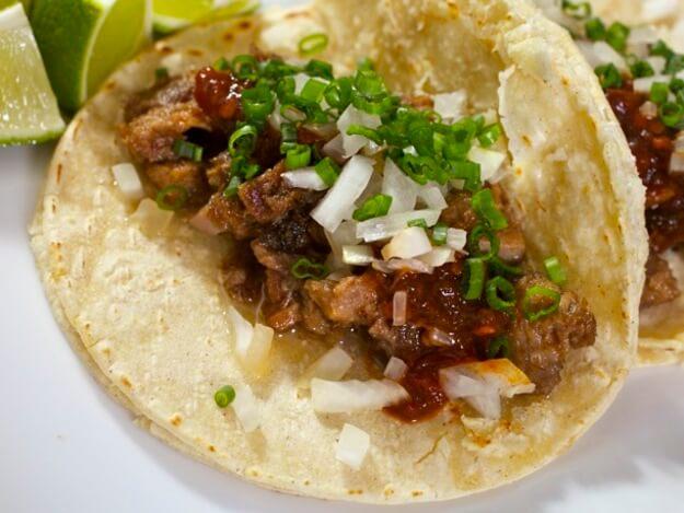 Sous Vide Tacos de Lengua