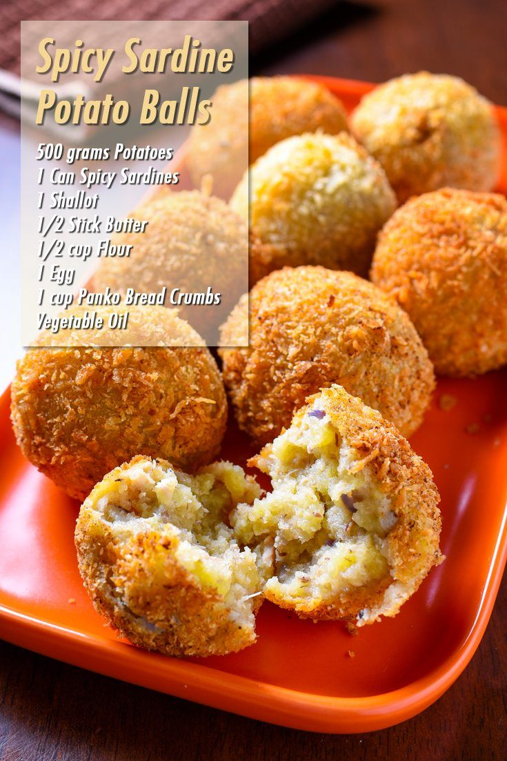 Spicy Sardine Potato Balls Full Recipe on FoodForNet.com