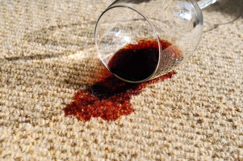 Spilled Red Wine on a Carpet