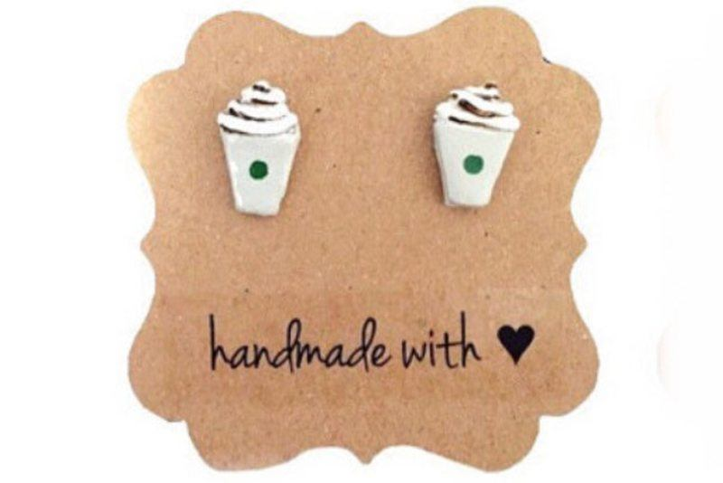 Starbucks Mocha Cup Post Earrings