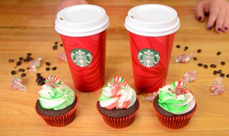 Starbucks Peppermint Mocha Cupcakes final 2