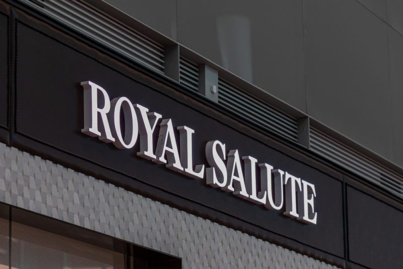 Store Front for Royal Salute