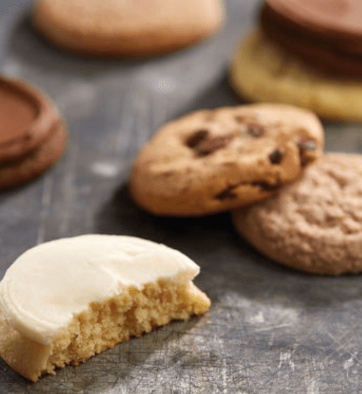 Selection of cookies on a black table