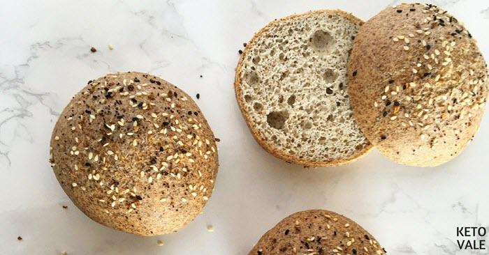 Bread rolls on a marble board