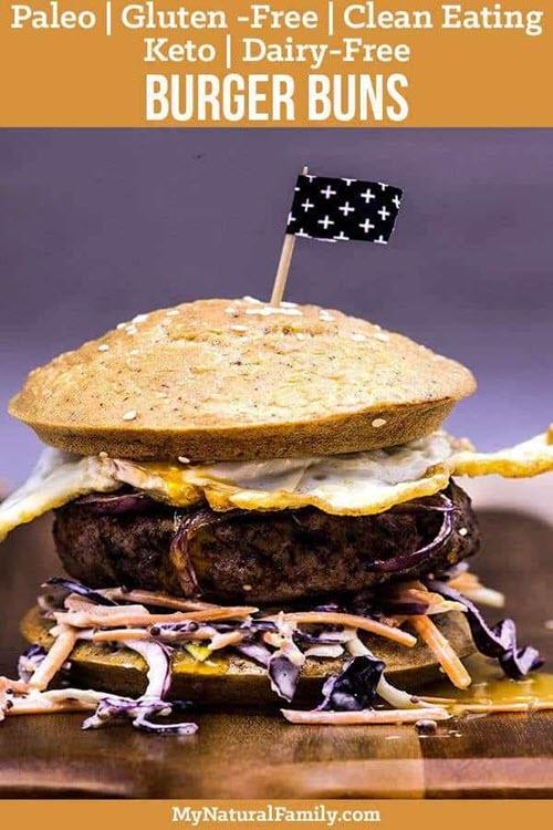 A stacked keto burger