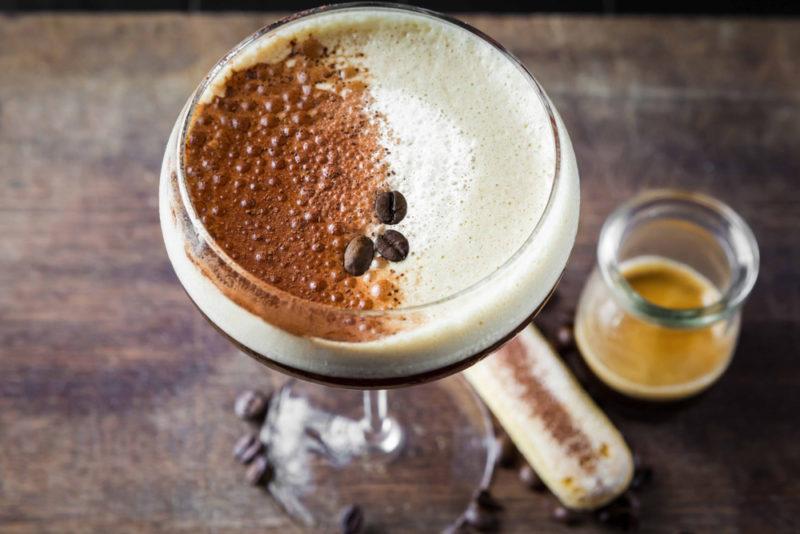 A tiramisu martini with espresso