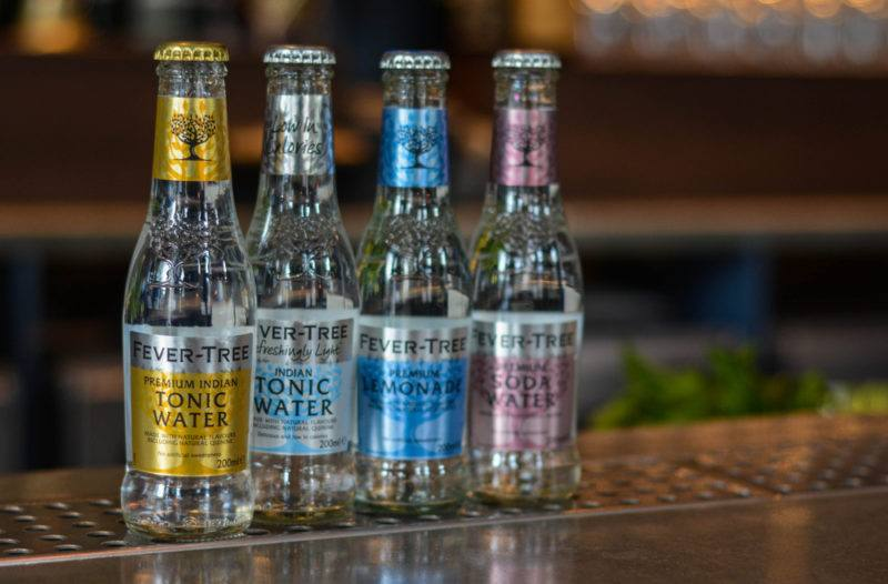 Four bottles from the Fever Tree range