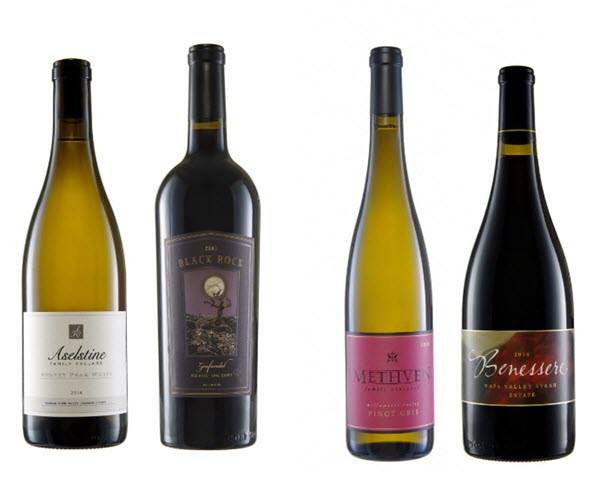 Selection of 4 bottles of wine
