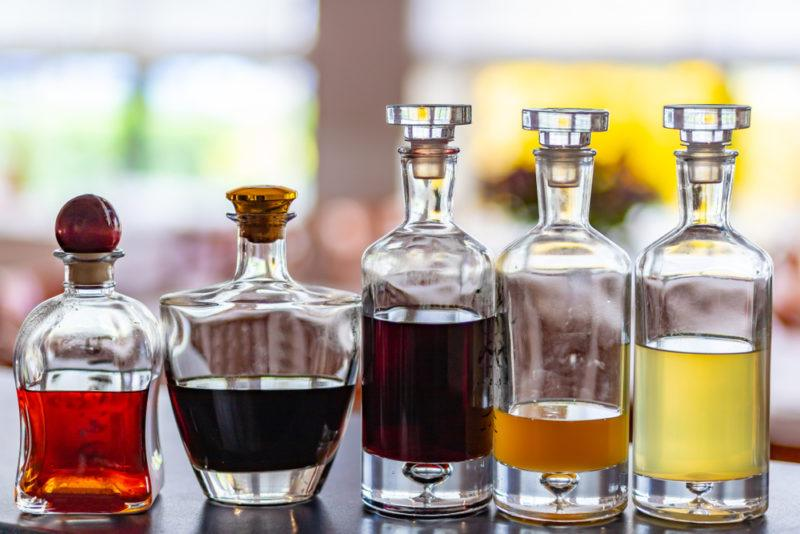 A selection of liqueurs