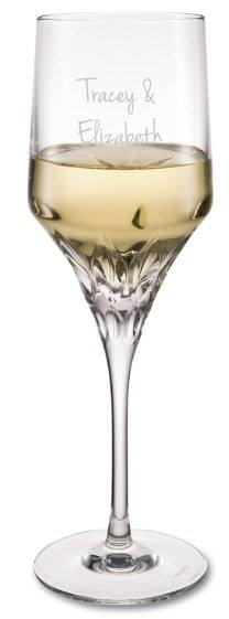 Goblet wine glass with engraving