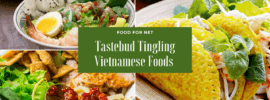 Three types of delicious and brightly colored Vietnamese foods