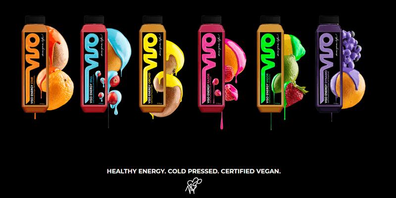 A website screenshot for Viso Energy Drink