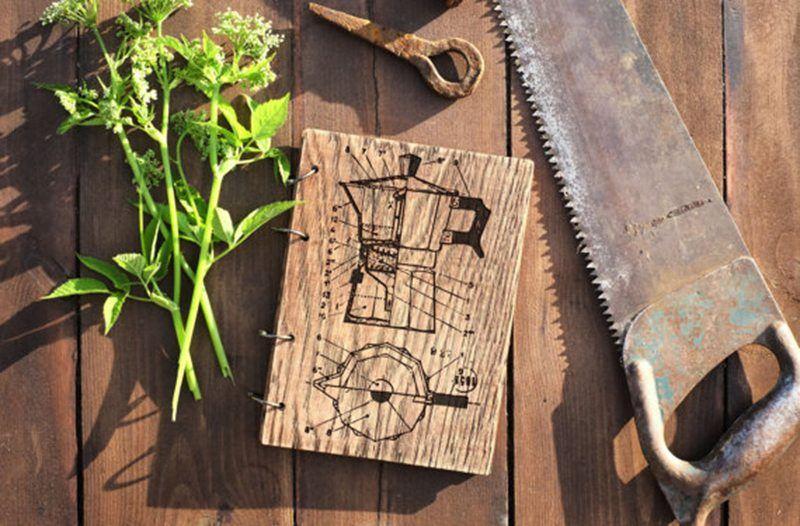 Wooden Moka Coffeemaker Mini Binder