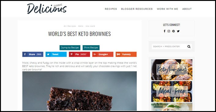 Website screenshot from Gimme Delicious