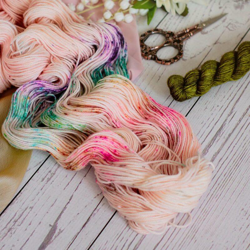 Yarn Love subscription box showing multi colored yarn