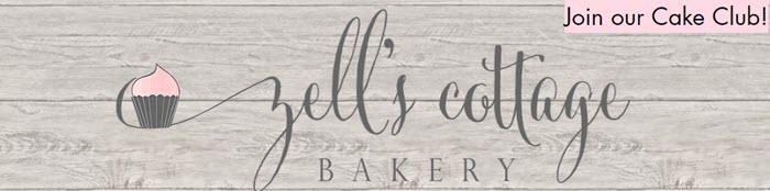 A website screenshot for Zell's Cottage Bakery