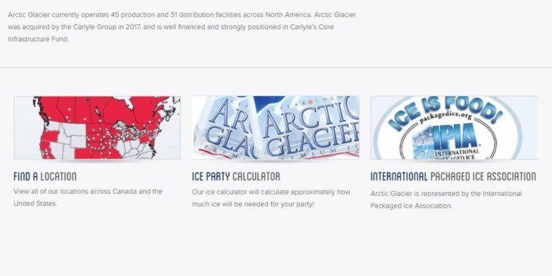 arctic glacier home page
