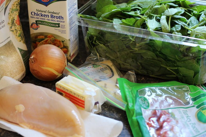 bacon spinach risotto ingredients