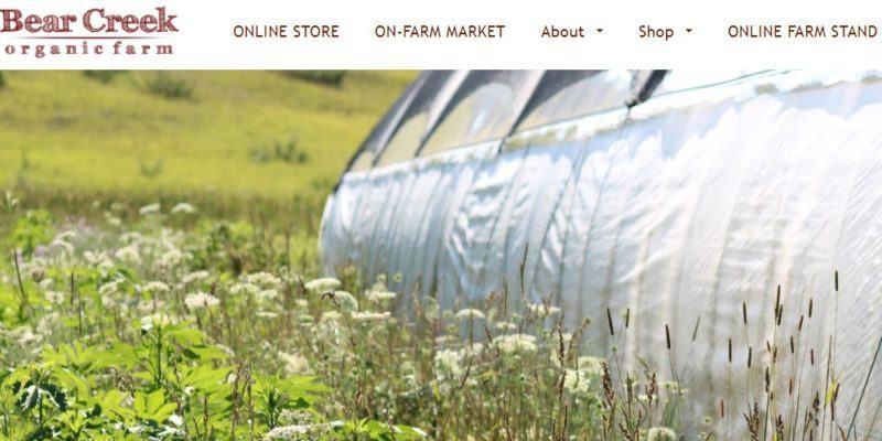 bear creek organic farm home page
