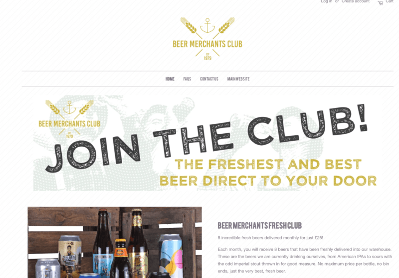 beer merchants club UK beer shipment