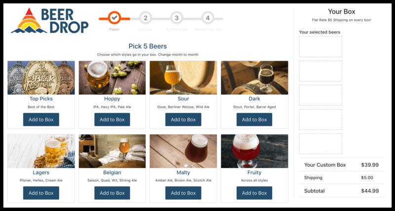 beer drop preferences