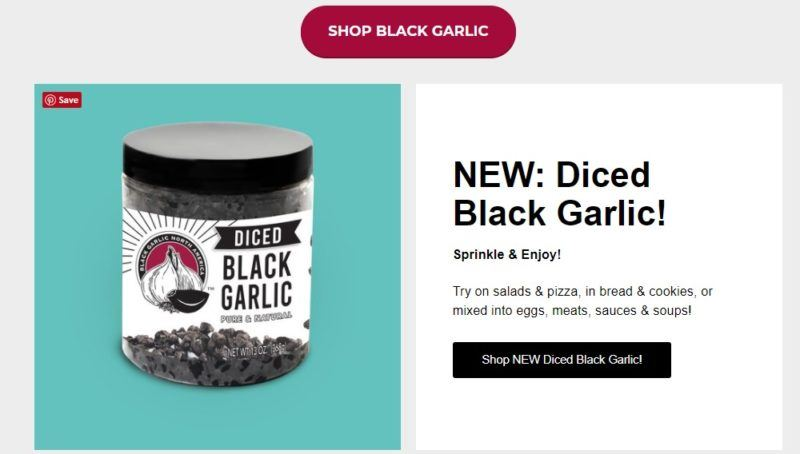 black garlic north america home page