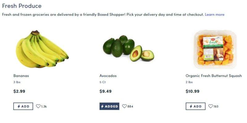 boxed produce category page