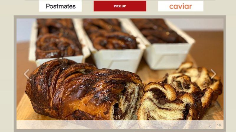 bread's bakery home page
