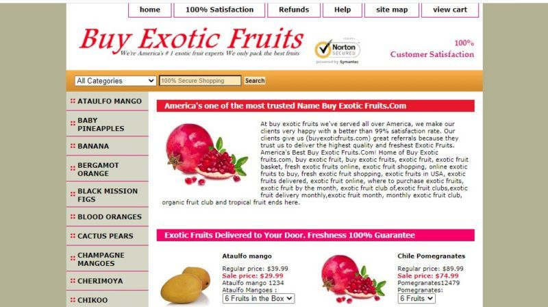buy exotic fruits home page