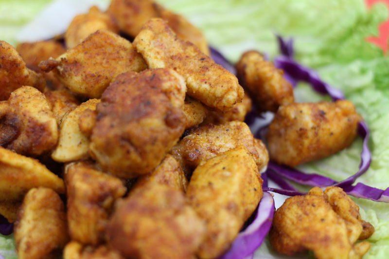 cajun chicken strips closeup