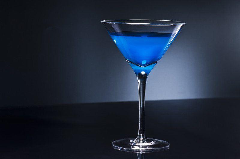 Cool blue martini