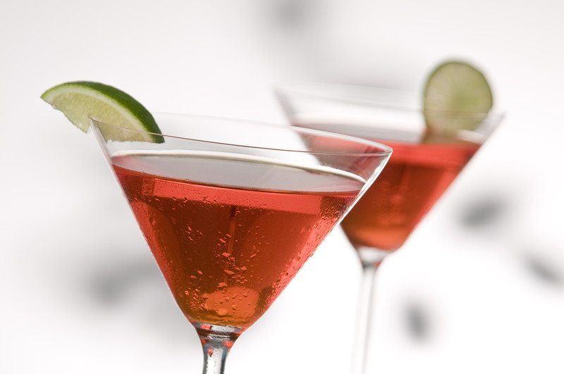 Cranberry Lime Martini