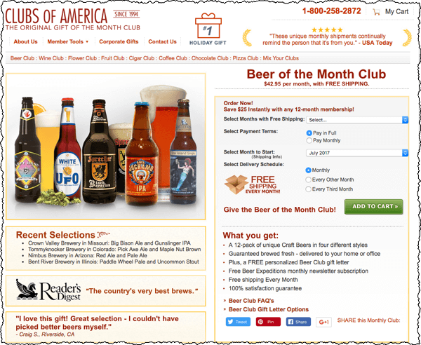 Clubs of America: Beer of the Month Club Review