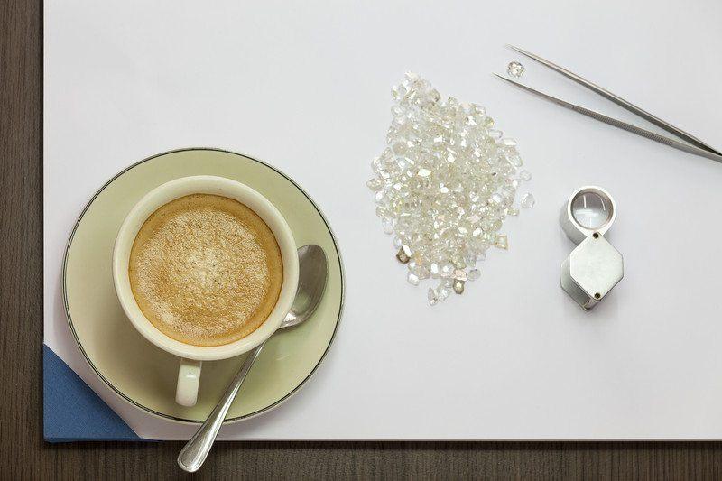 coffee jewelry diamonds
