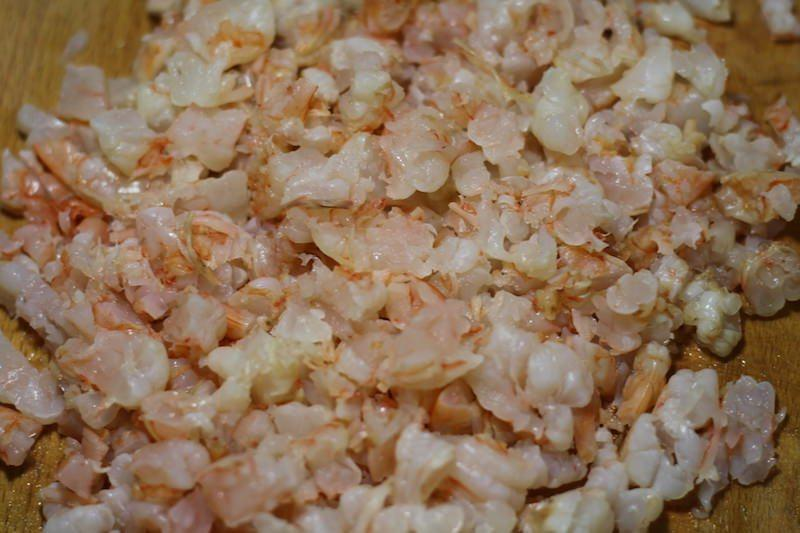cooked shrimp cooled chopped