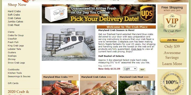 crab place home page