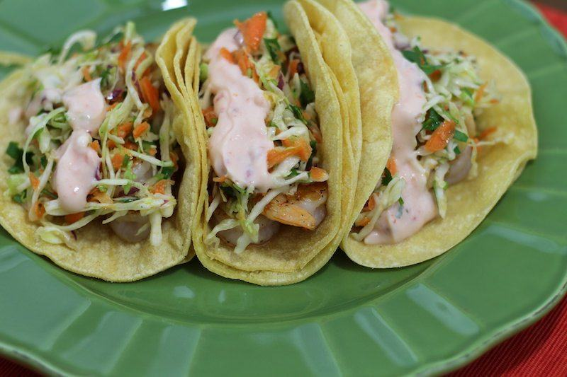 crispy shrimp sweet chili tacos final 4