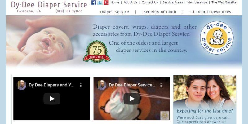 dy-dee diaper service home page