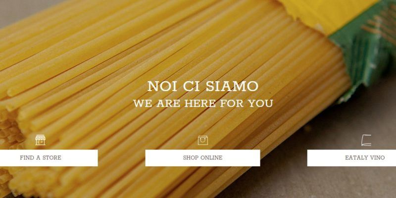 eataly home page