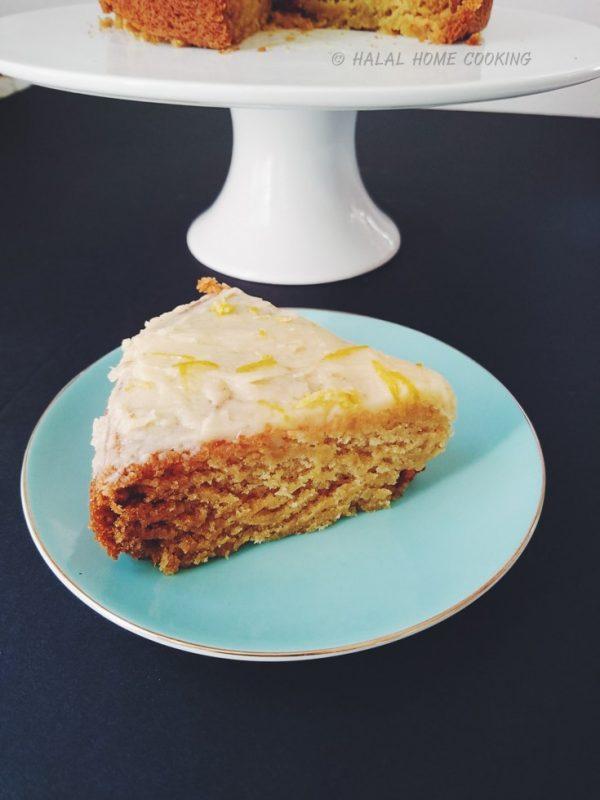 Eggless Honey Lemon Ginger Cake