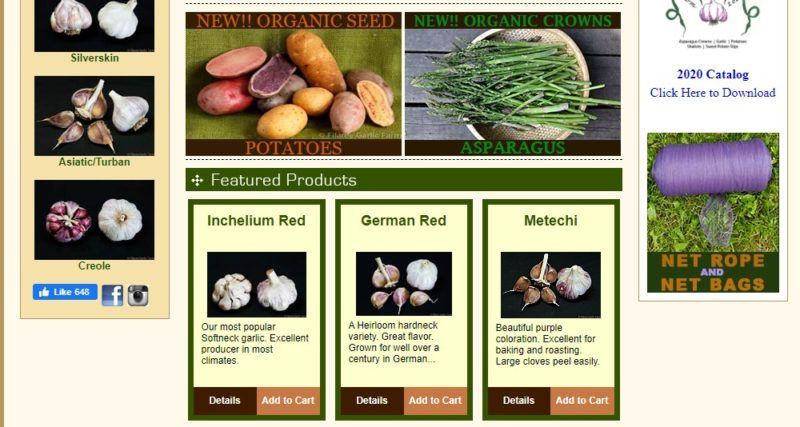 filaree garlic farm home page