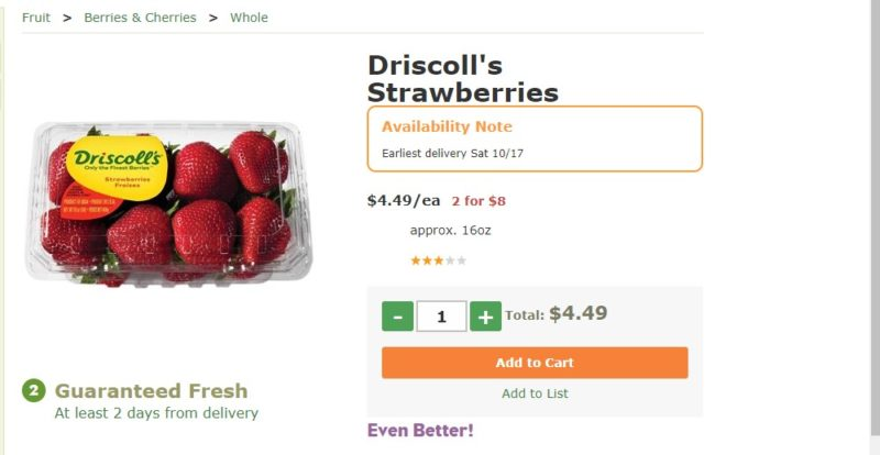 fresh direct strawberry page