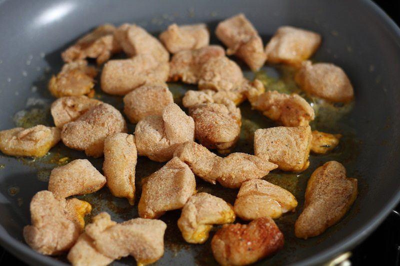 frying cajun chicken