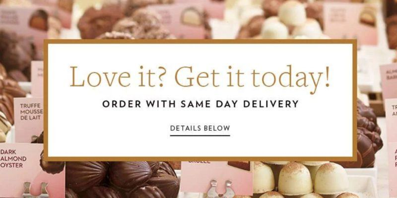 godiva same day delivery page