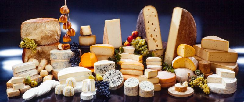 gourmet artisanal cheese selection from aroaund the world