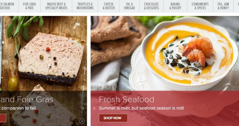 gourmet food store home page