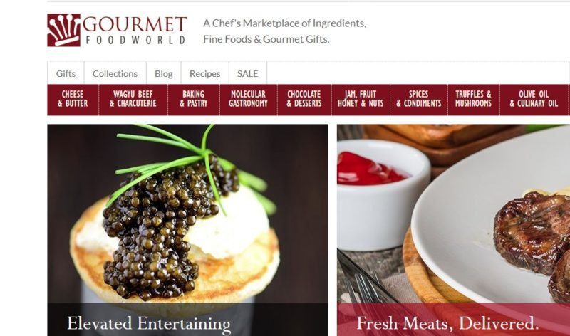 gourmet food world home page