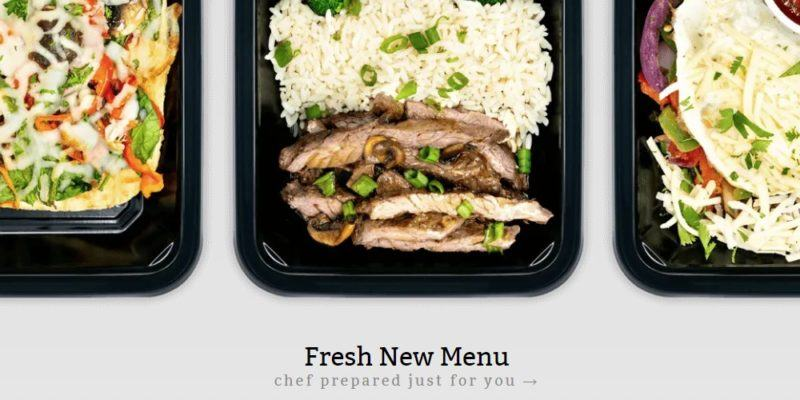 icon meals home page