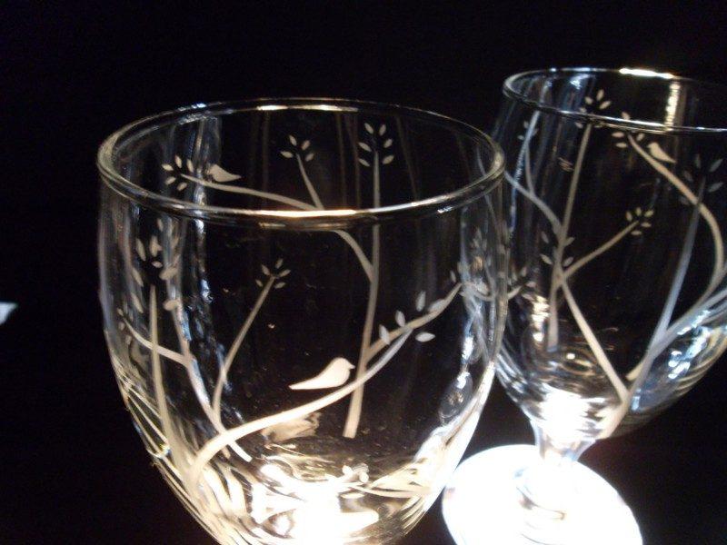 Etched Wedding Favor Glasses