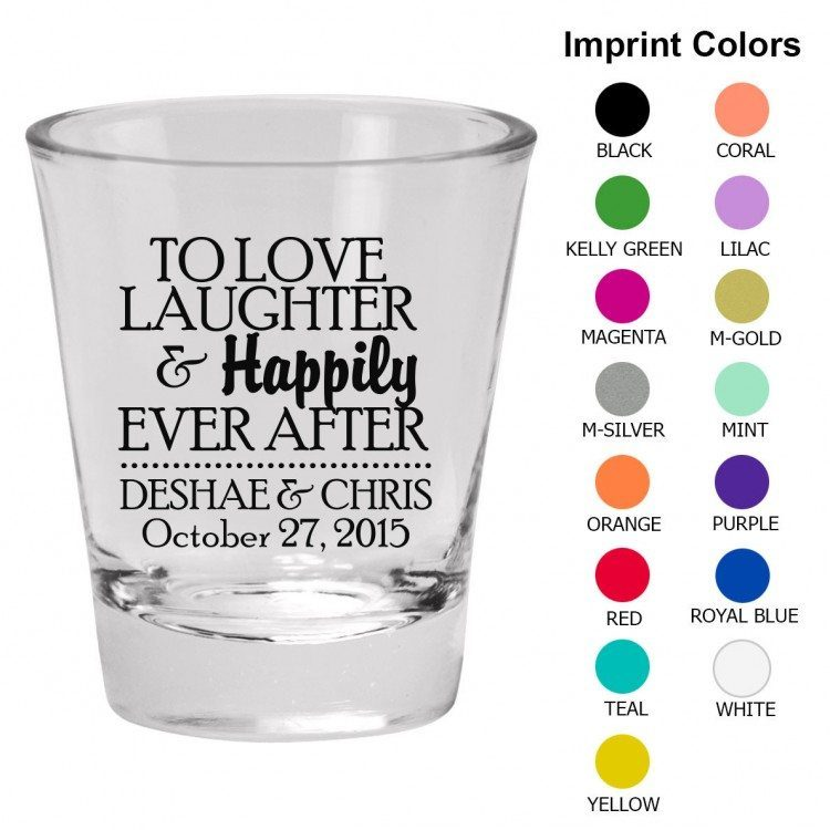 Love and Laughter Shot Glasses
